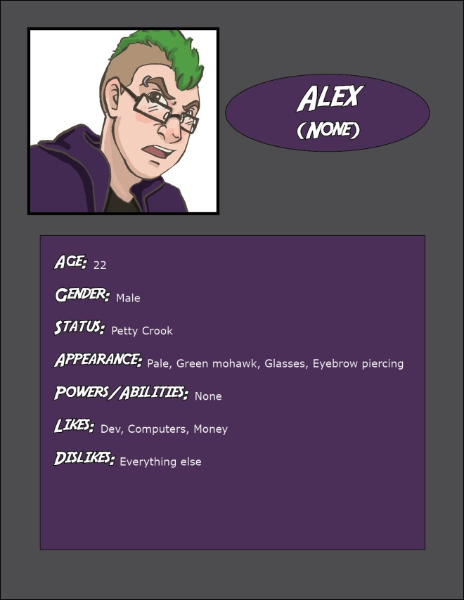 Alex Character Bio